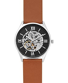 Men's Automatic Holst Luggage Leather Strap Watch 42mm