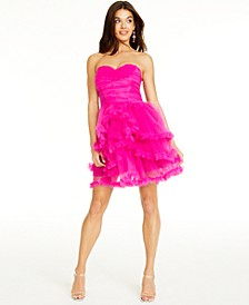SHOP THE LOOK: Ruched Ruffled Dress & Accessories
