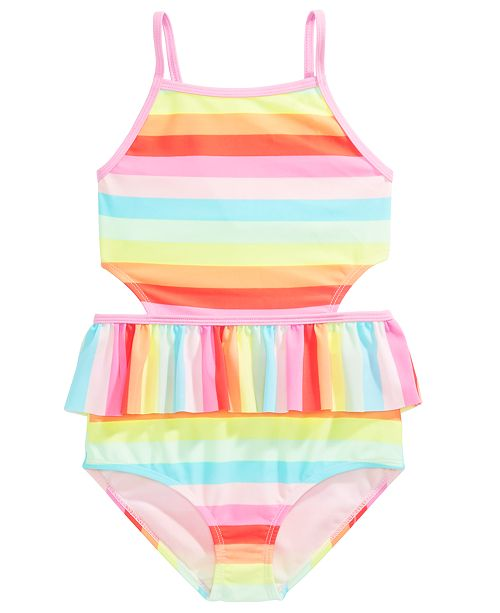 Ideology Little Girls Striped One-Piece Swimsuit, Created For Macy's