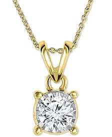 """Diamond 18"""" Pendant Necklace (1/2 ct. t.w.) in 14k White, Yellow, or Rose Gold"""
