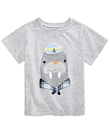 Baby Boys Walrus-Print T-Shirt, Created for Macy's