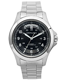 Hamilton Men's Swiss Automatic Khaki King Stainless Steel Bracelet Watch 40mm H64455133