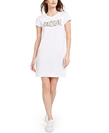 Bride Little White T-Shirt Dress