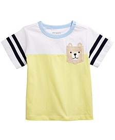 Baby Boys Bear Pocket Cotton T-Shirt, Created for Macy's