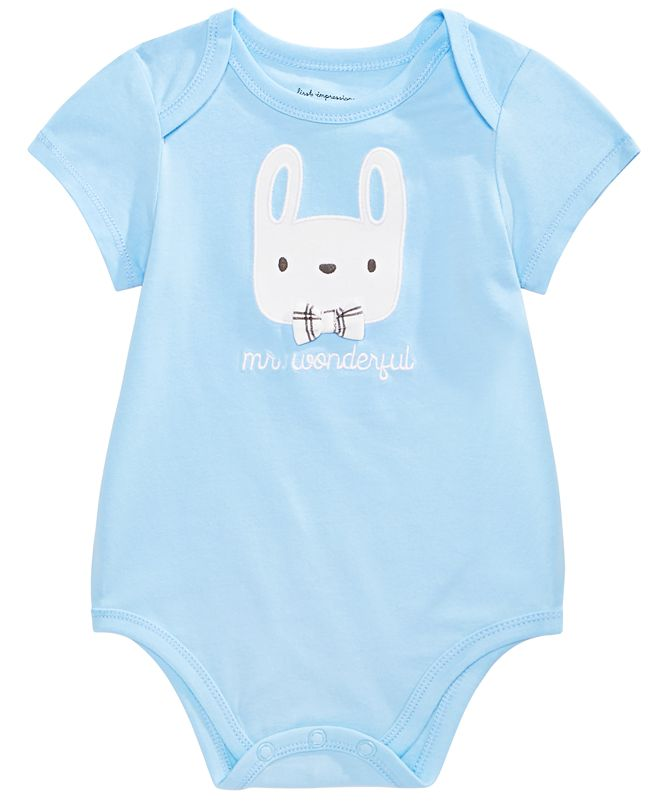 First Impressions Baby Boys Mr. Wonderful Bunny Bodysuit, Created for Macy's