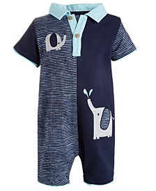 Baby Boys Elephant Pals Cotton Sunsuit, Created for Macy's