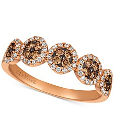 Chocolatier® Diamond Halo Cluster Ring (3/8 ct. t.w.) in 14k Rose Gold