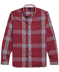 Men's Oscar Slim-Fit Plaid Shirt with Magnetic Buttons