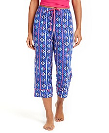 Printed Capri Pajama Pants