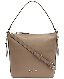 Tappen Leather Convertible Zip Hobo, Created for Macy's
