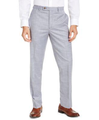 Ralph Lauren Mens Flat Front Tan Sharkskin Dress Pants