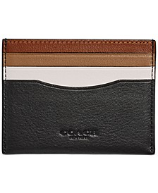 Men's Colorblocked Leather Card Case