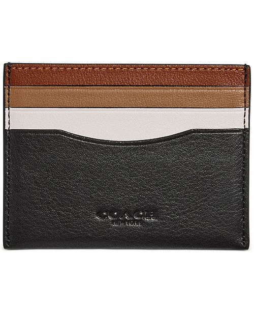 COACH Men's Colorblocked Leather Card Case