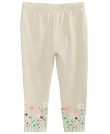 Baby Girls Floral-Hem Leggings, Created for Macy's