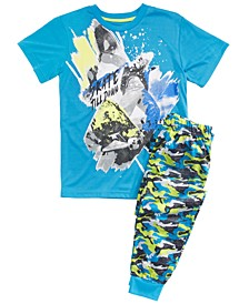 Big Boys 2-Pc. Skate Pajamas Set