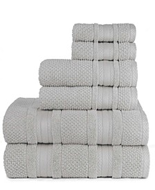 Central Park Studio Grace Textured Zero Twist 6 Piece Bath Towel Set