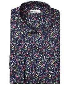Men's Organic Cotton Slim-Fit Mixed Garden Floral Dress Shirt, GOTS Certified, Created for Macy's