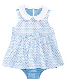Baby Girls Heart-Print Sunsuit, Created for Macy's