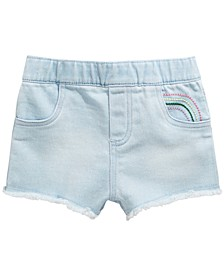 Baby Girls Rainbow-Detail Denim Shorts, Created for Macy's