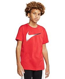 Big Boys Cotton Swoosh T-Shirt