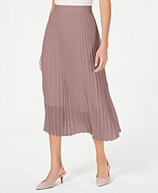 Petite Knife Pleat Midi Skirt, Created For Macy's