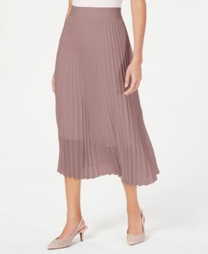 1920s Skirt History Alfani Petite Knife Pleat Midi Skirt Created For Macys $26.82 AT vintagedancer.com