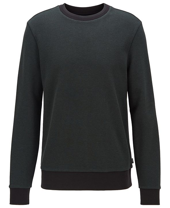 Hugo Boss BOSS Men's Stadler 31 Striped-Collar Sweatshirt