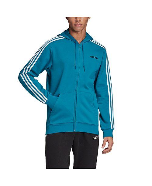 adidas 3 stripe fleece hoodie