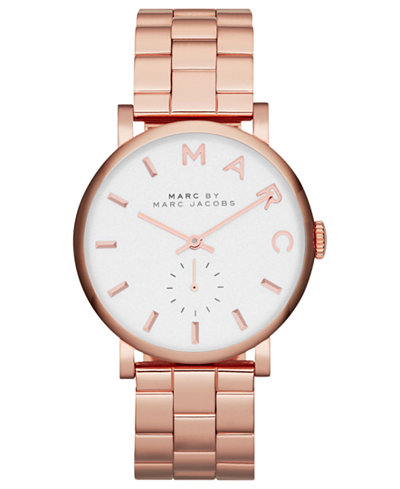Marc by Marc Jacobs Watch, Women's Baker Rose Gold-Tone Stainless Steel Bracelet 37mm MBM3244