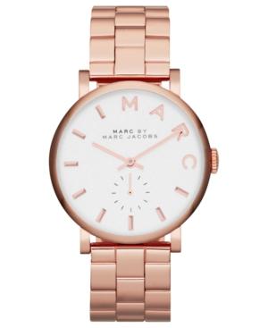 Marc by Marc Jacobs Watch, Women's Baker Rose Gold-Tone Stainless Steel Bracelet 37mm MBM3244