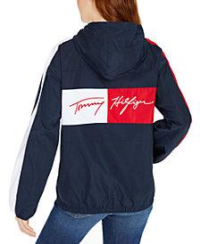 Tommy Hilfiger Logo Zip-Up Windbreaker