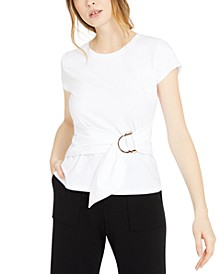 INC Petite Cotton Belted Top, Created for Macy's