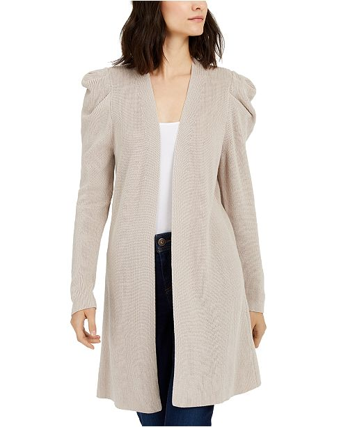 INC International Concepts INC Puff-Sleeve Completer Cardigan, Created For Macy's
