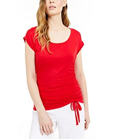 INC Ruched-Side Top, Created For Macy's