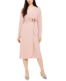 Alfani Tie-Front Fit & Flare Dress, Created for Macy's
