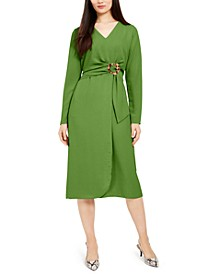 Tie-Front Fit & Flare Dress, Created For Macy's
