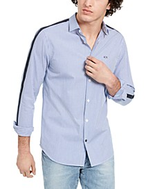 Men's Striped Contrast Taped Shirt