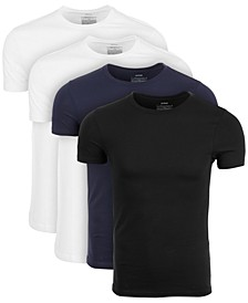 Men's 4-Pk. Crewneck Undershirts, Created for Macy's