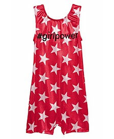 Little Girls Star Sparkle Girl Power Biketard One Piece