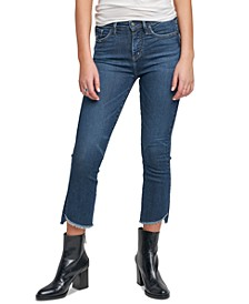 Fleet Step-Hem Kick-Cropped Jeans