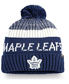 Toronto Maple Leafs Authentic Pro Rinkside Goalie Pom Knit Hat