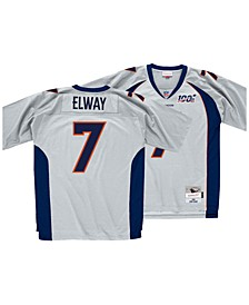 Men's John Elway Denver Broncos 100 Year Platinum Jersey