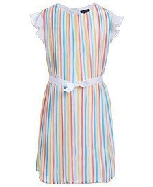 Big Girls Pleated Chiffon Dress