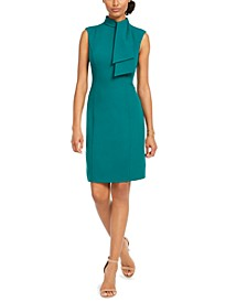 Neck-Tie Sheath Dress