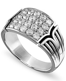 Men's 3/4 Carat Diamond Ring in Sterling Silver