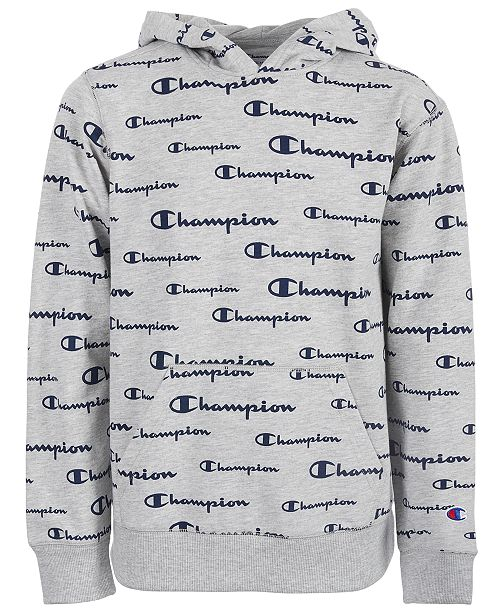 Champion Toddler Boys Script Logo French Terry Hoodie