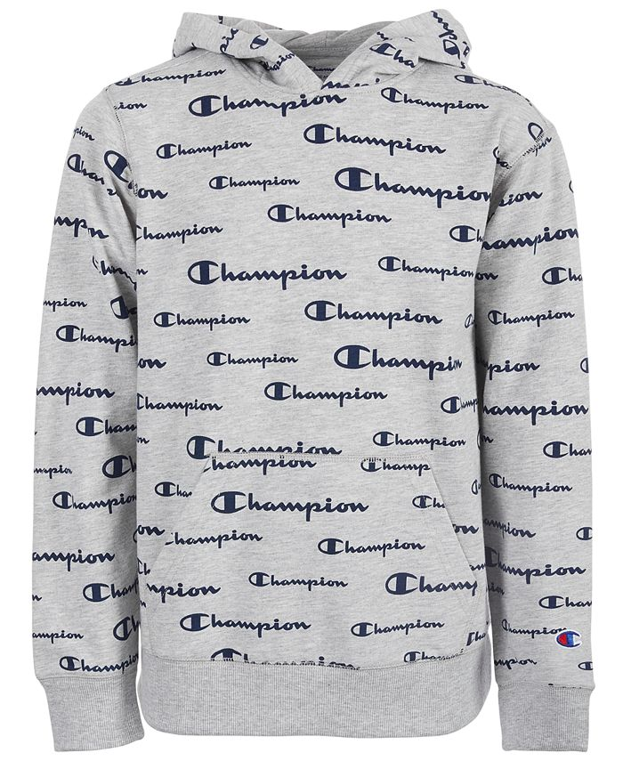 Champion - Little Boys Script Logo French Terry Hoodie