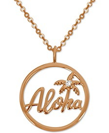 """Aloha Pendant Necklace in Rose Gold-Plate, 16"""" + 2"""" extender"""