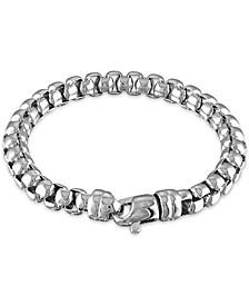 """Men's Box Chain (8mm) 8 1/2"""" Bracelet in Sterling Silver"""