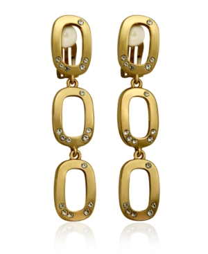 T Tahari Casted Link Clip Earring